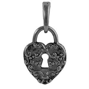 Picture of Graphite Heart Lock Droplet