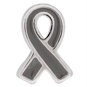 Picture of Grey Ribbon: Brain Cancer Charm