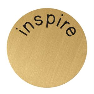 Picture of 'Inspire' Large Gold Coin