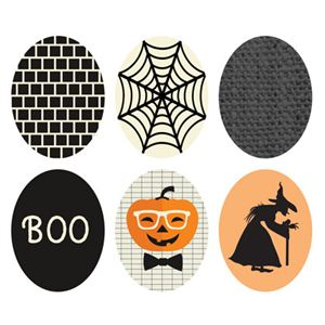 Picture of Halloween Oval Locket Backdrops